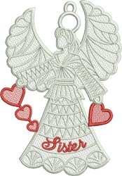 FSL Sister Angel embroidery design