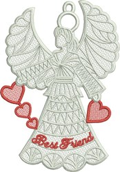 FSL Best Friend Angel embroidery design