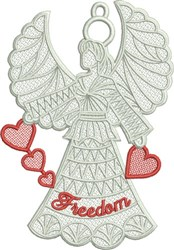FSL Freedom Angel embroidery design