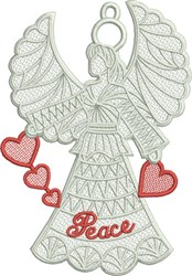 FSL Peace Angel embroidery design