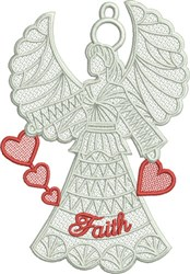 FSL Faith Angel embroidery design