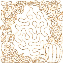 Autumn Quilt Square embroidery design