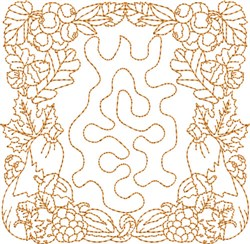 Fall Stipple Block embroidery design