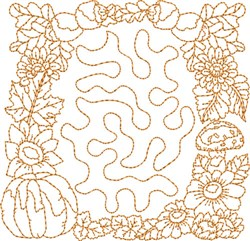 Autumn Stipple Block embroidery design