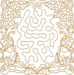 Monogrammed Keyfob Letter D embroidery design