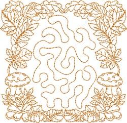 Monogrammed Keyfob Letter F embroidery design