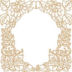 Monogrammed Keyfob Letter L embroidery design