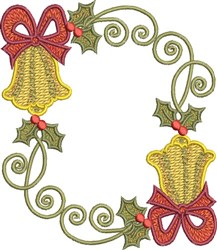 Festive Circle Bells embroidery design