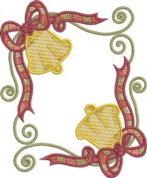 Festive Christmas Bells embroidery design