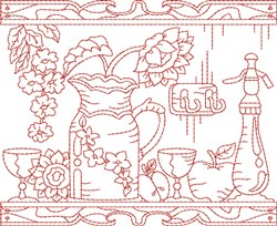 Kitchen Quilt Block embroidery design