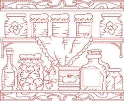 Preserves Quilt Block embroidery design