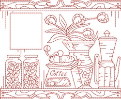 Coffee Quilt Block embroidery design