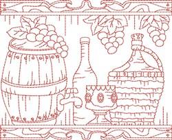 Frontier Wine Quilt Block embroidery design