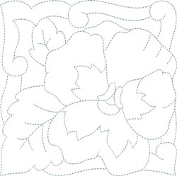 Pansy Quilt Block embroidery design