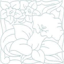 Daffodil Garden Quilt Block embroidery design