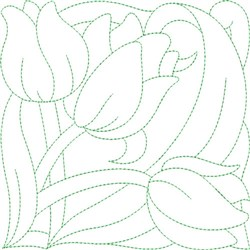 Tulip Quilt Block embroidery design