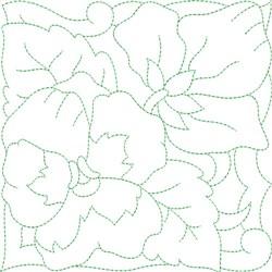 Pastel Flower Quilt Block embroidery design
