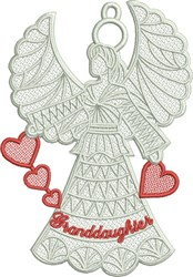 Granddaughter Angel embroidery design
