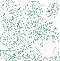 St Patrick Block embroidery design