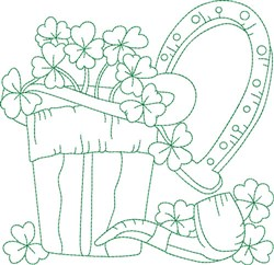Shamrock Block embroidery design
