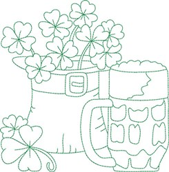 St Paddy Block embroidery design