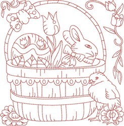 Easter Quilt Block embroidery design