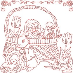 Easter Block embroidery design