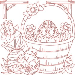 Easter Egg Block embroidery design