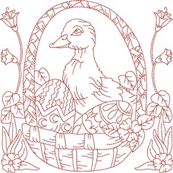 Duck Quilt Block embroidery design
