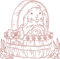 Bunny RW Block embroidery design