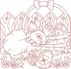 Easter Bunny Block embroidery design