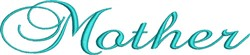 Mother Wedding Script embroidery design
