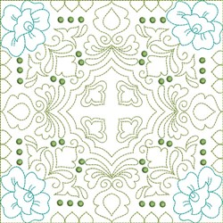 Multi Color Quilt Block embroidery design