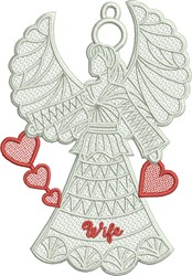 FSL Family Heart Angel embroidery design