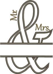 Mr & Mrs Applique embroidery design