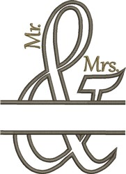 Mr. & Mrs. Ampersand Applique embroidery design