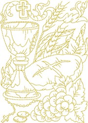 Religious Communion embroidery design