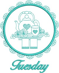 Tuesday Tea Towel embroidery design