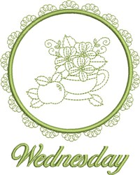 Wednesday Tea Towel embroidery design
