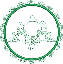Round Tea Towel embroidery design