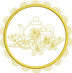 Round Tea Service embroidery design