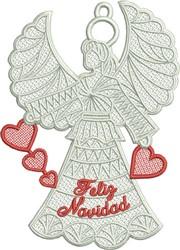 FSL Feliz Navidad embroidery design
