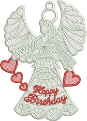 FSL Birthday Angel embroidery design