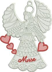 FSL Nurse Angel embroidery design