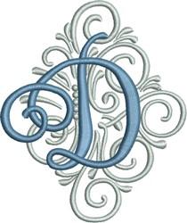 Adorn Monogram D embroidery design
