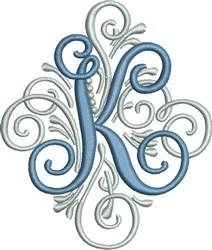 Adorn Monogram K embroidery design