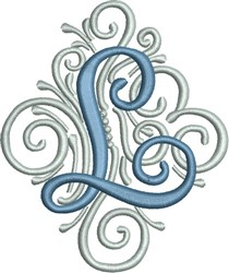 Adorn Monogram L embroidery design