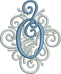 Adorn Monogram O embroidery design