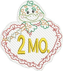 Baby 2 Months embroidery design