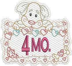 Baby 4 Months embroidery design